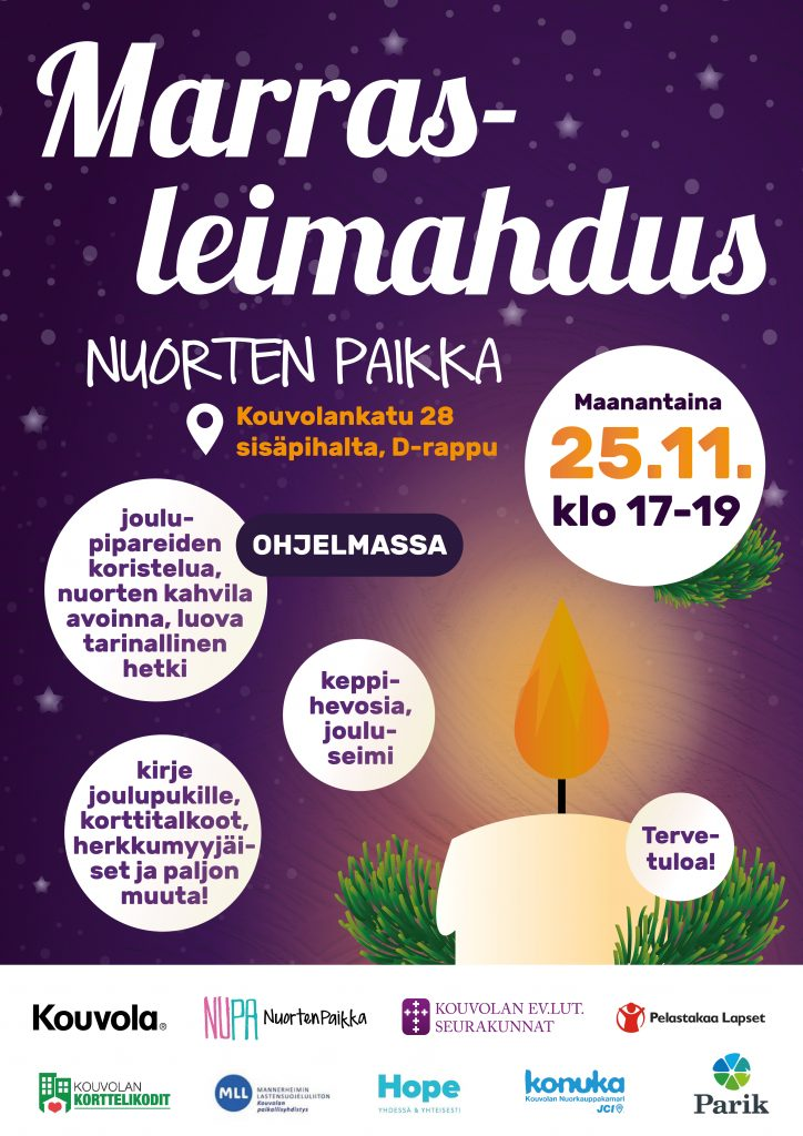 Marrasleimahdus -tapahtuma Kouvolassa 25.11.